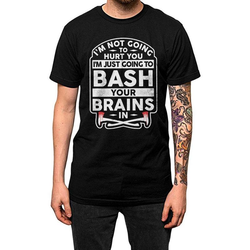 Bash your brains shining t-shirt