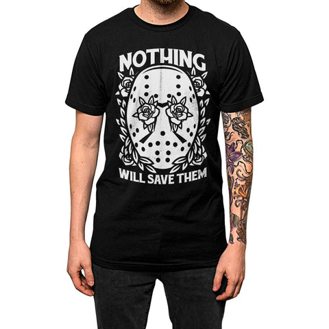 Nothing Will Save Them'	Shirt Black Mens