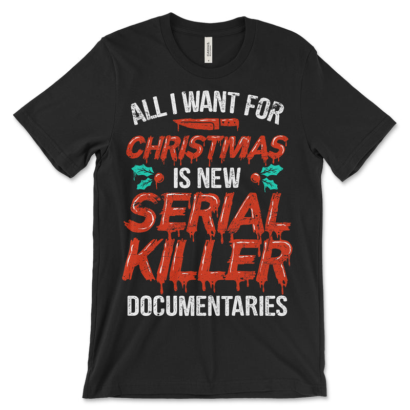 Serial Killer Documentaries Christmas Shirt