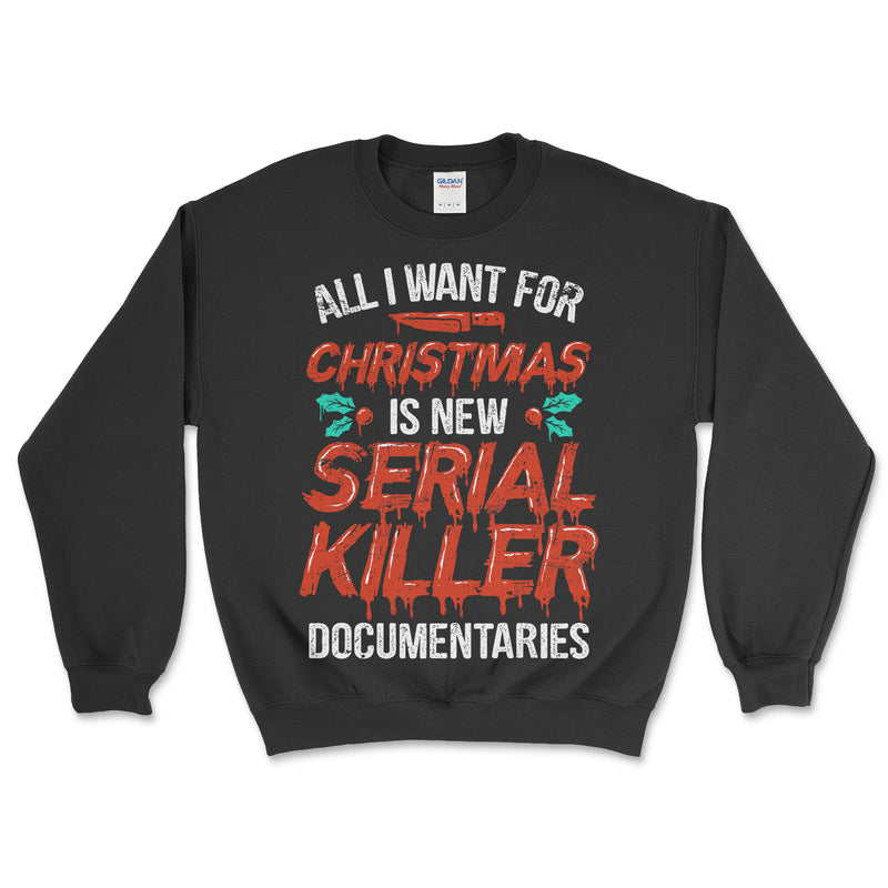 Serial Killer Documentaries Christmas Sweater
