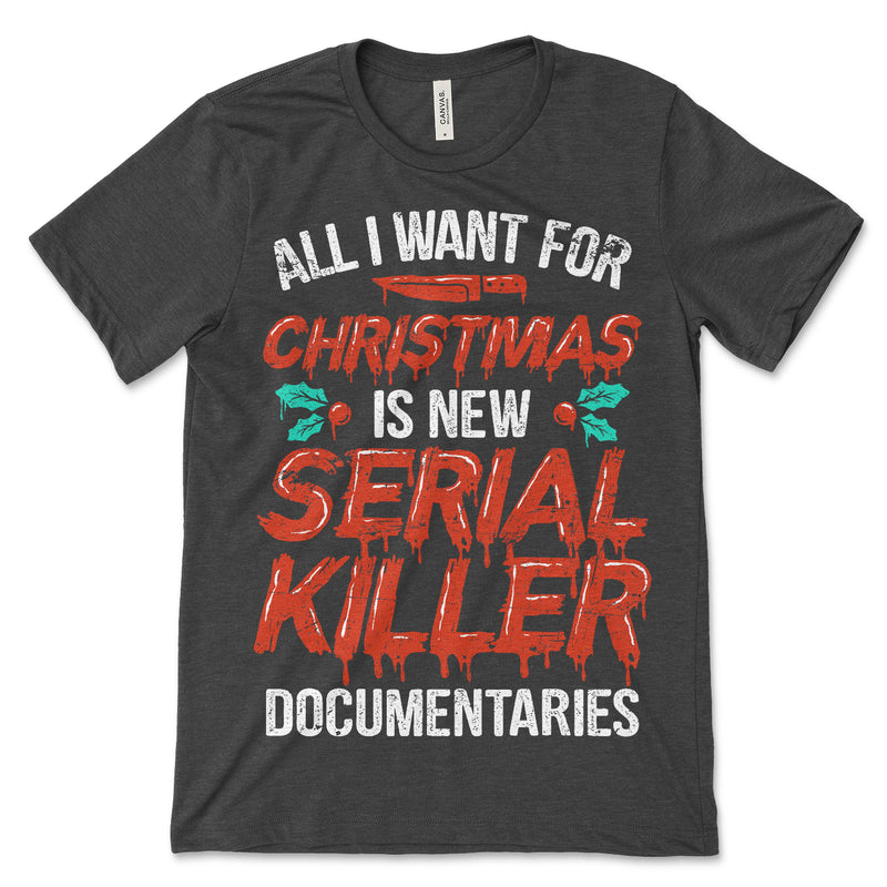 Documentaries Serial Killer Christmas Shirt