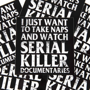 serial killer documentaries sticker