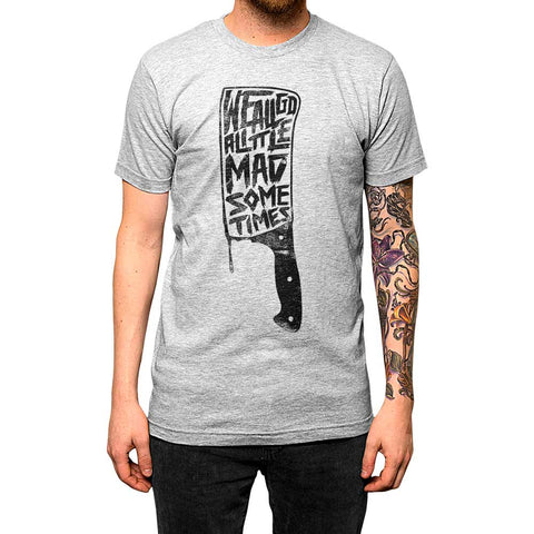We All Go Mad Unisex Tee Athletic Grey Model