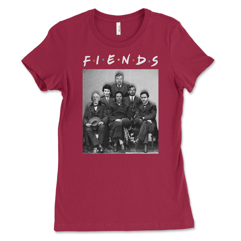 Fiends Friends Serial Killers Womens T Shirt