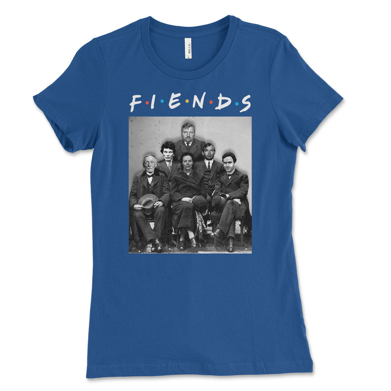 Fiends Friends Serial Killers Womens Tee Shirt