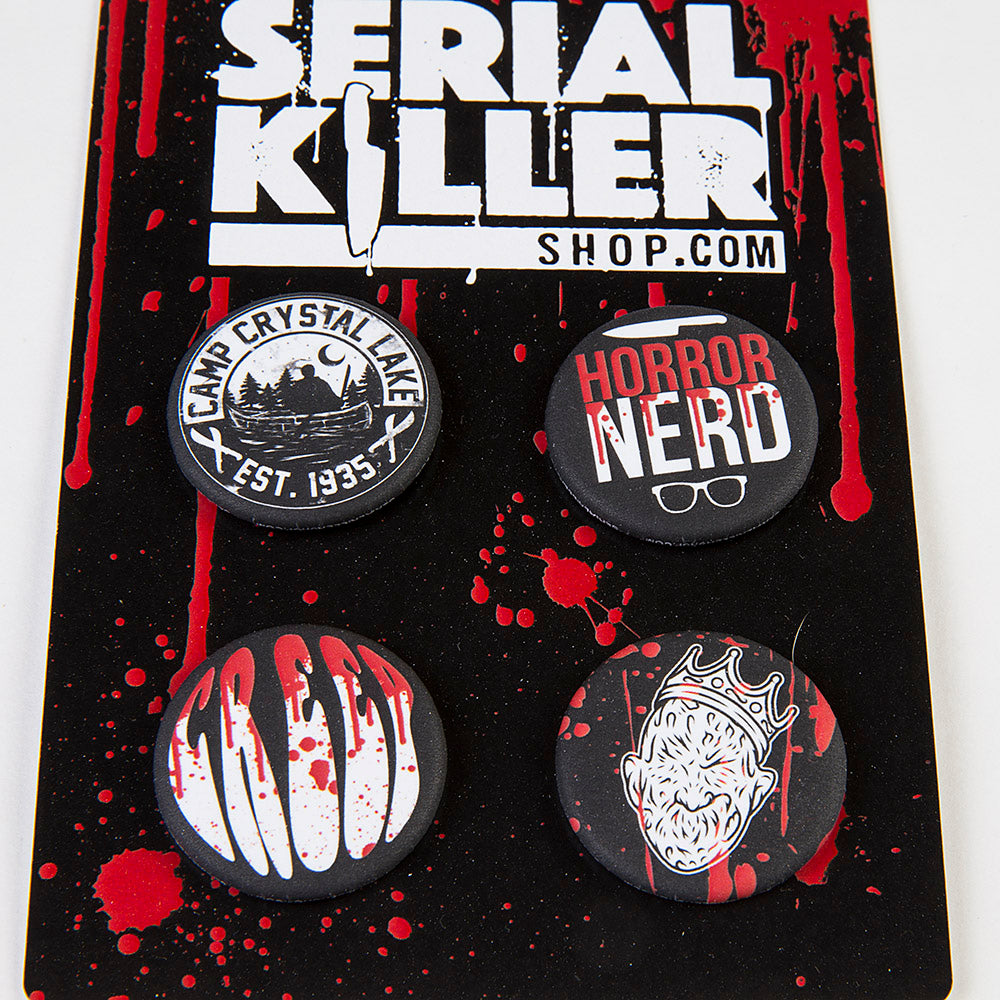 Horror pin button set
