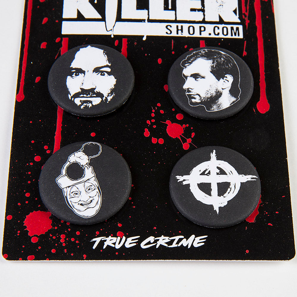true crime serial killer pins