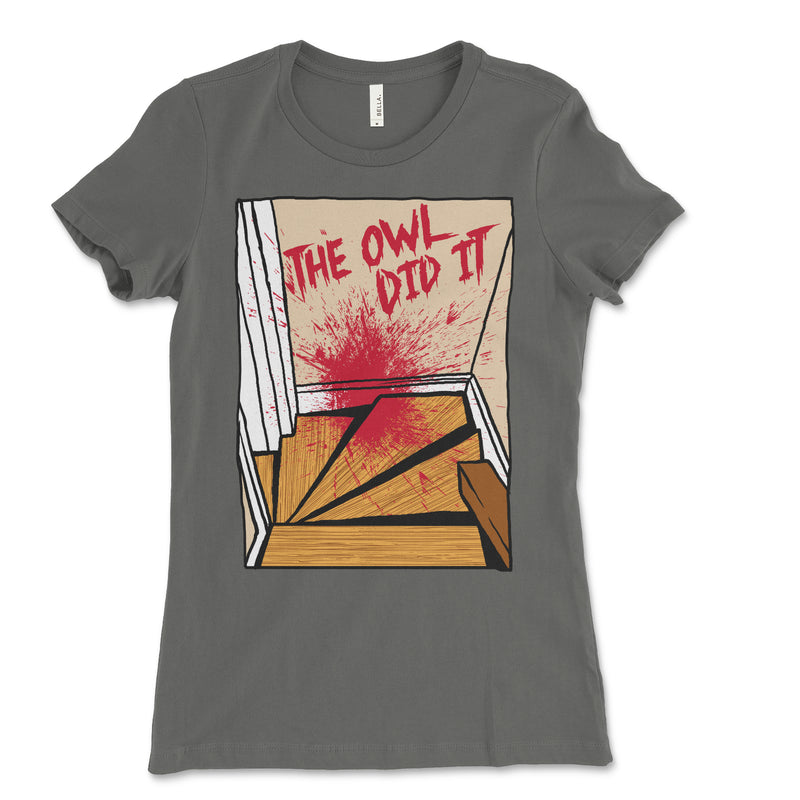 Women's The Owl Did It Staircase Tee Shirt