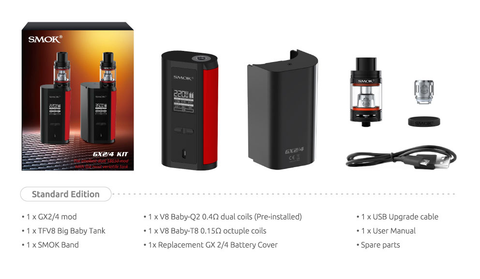 Smok gx2/4 kit includes