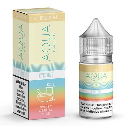 AQUA CREAM SALTS | Cyclone 30ML eLiquid eJuice AQUA