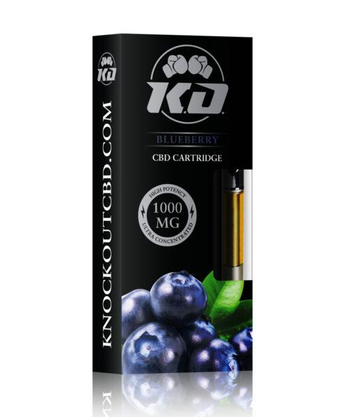 Knock Out | CBD Vape Cartridge Blueberry 1000MG CBD Cartridge Knock Out