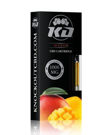 Knock Out | CBD Vape Cartridge Mango 1000MG CBD Cartridge Knock Out