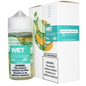 WET LIQUIDS | MELON MENTHOL ICED 100ML eLiquid eJuice WET LIQUIDS