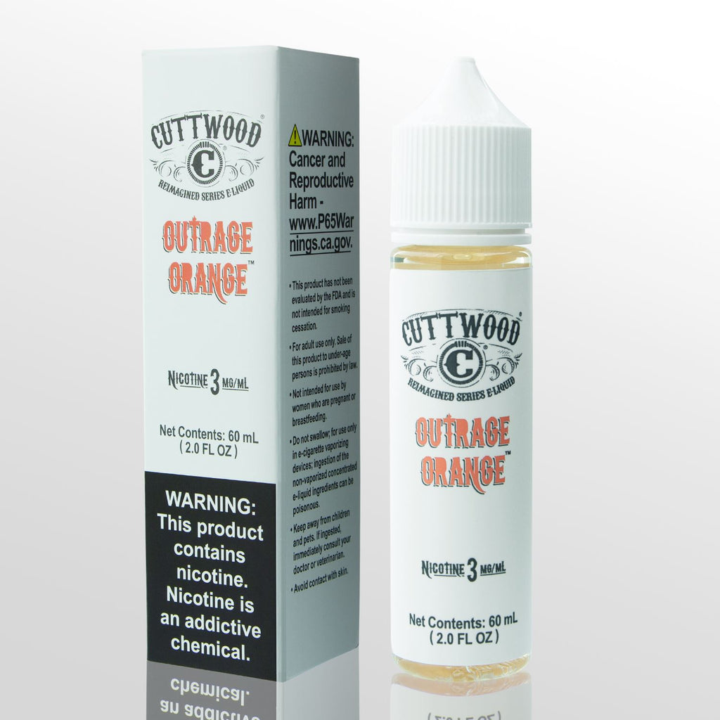 CUTTWOOD REIMAGINED | Outrage Orange 60ML eLiquid eJuice Cuttwood