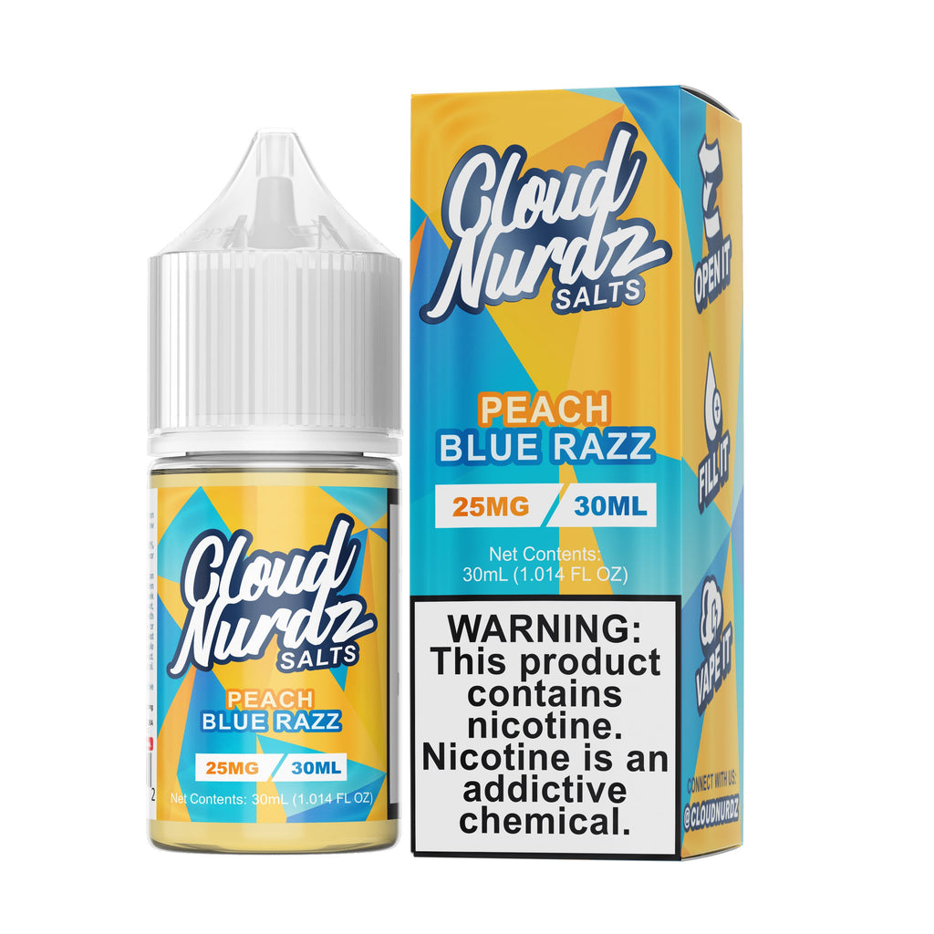 CLOUD NURDZ SALT | Peach Blue Razz 30ML eLiquid eJuice CLOUD NURDZ
