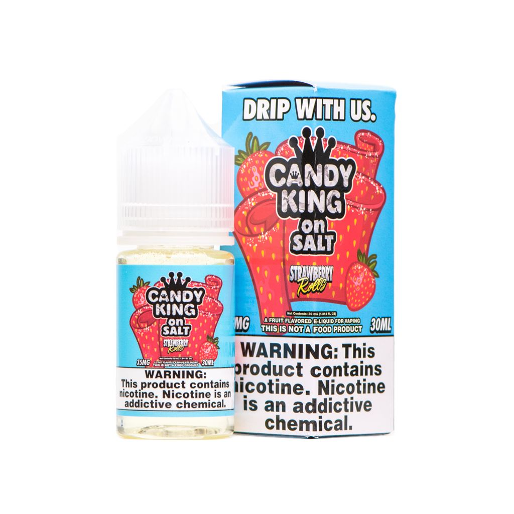 CANDY KING ON SALT | Strawberry Rolls 30ML eLiquid eJuice CANDY KING