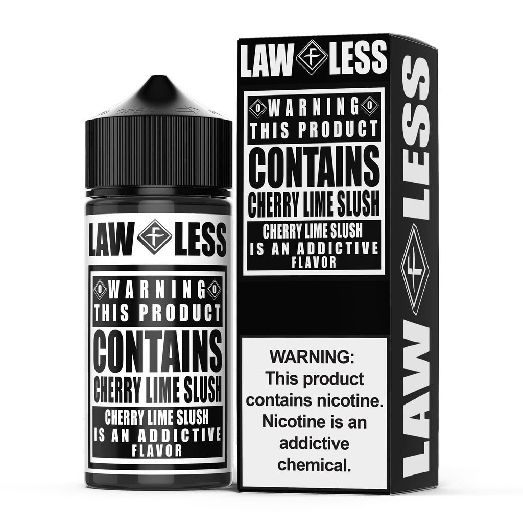 WARNING | Cherry Lime Slush 100ML eLiquid eJuice Flawless
