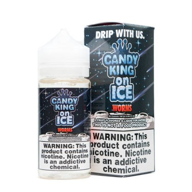 CANDY KING ON ICE | Sour Worm 100ML eLiquid eJuice CANDY KING