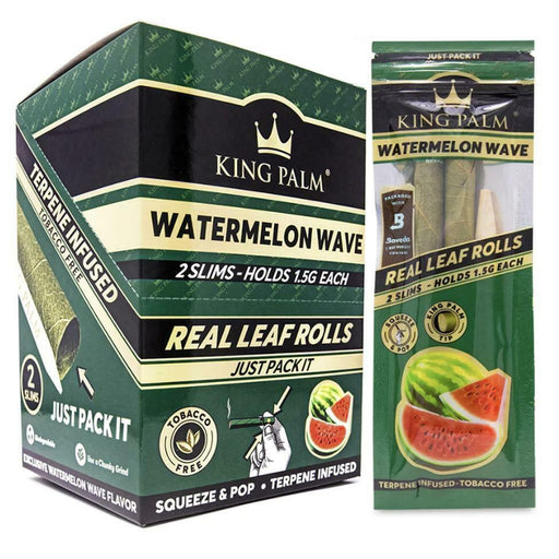 King Palm 2 Slim Rolls Watermelon Wave