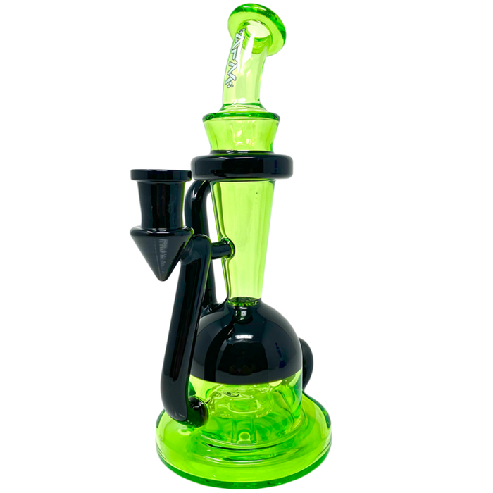 "AFM Glass Spaceship Recycler Dab Rig 9"" - 2 Colors"
