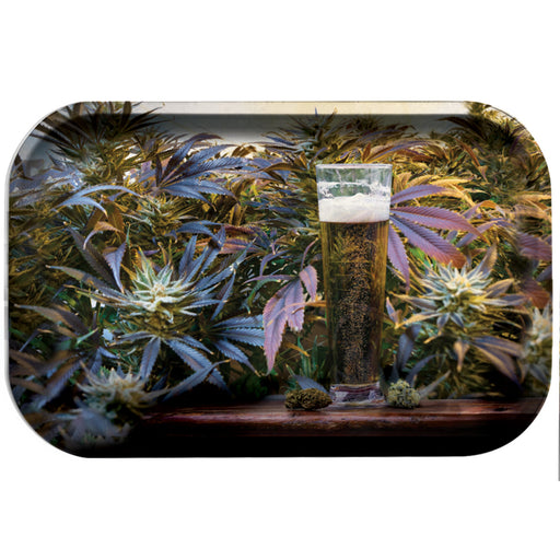 Beer and Bud Rolling Tray 11x7