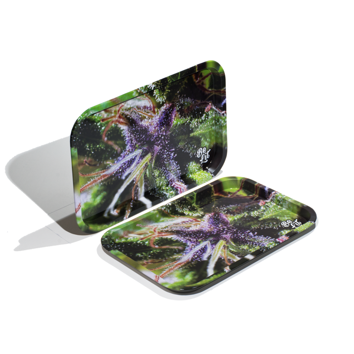 Be Lit Tin Rolling Tray - Large Tray - Buds