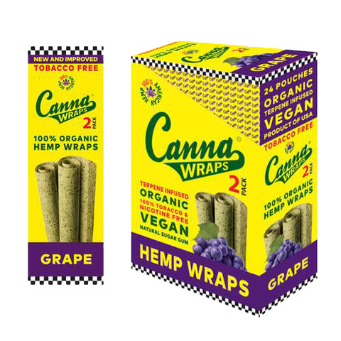 Canna Wraps Terpene Infused Hemp Wrap - Grape
