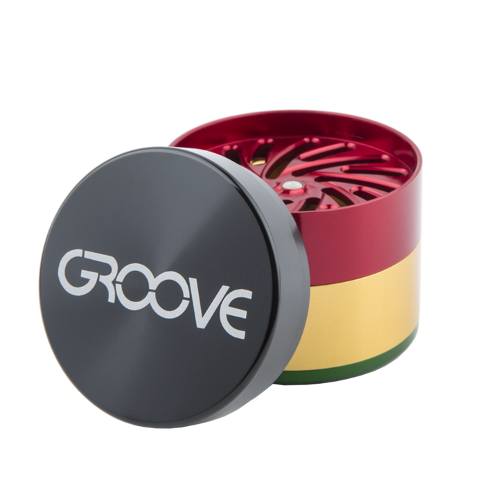"Groove CNC 4 Piece Grinder Sifter 2.5"" (63mm)"
