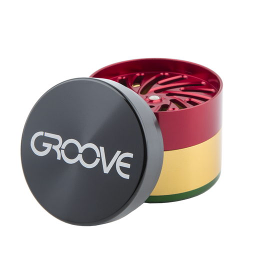 "Groove CNC 4 Piece Grinder Sifter 2.0"" (50mm)"