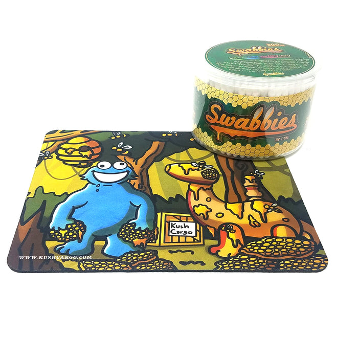 KushZen Dab Pad with I-TAL Swabbies 300 Count Cotton Swabs