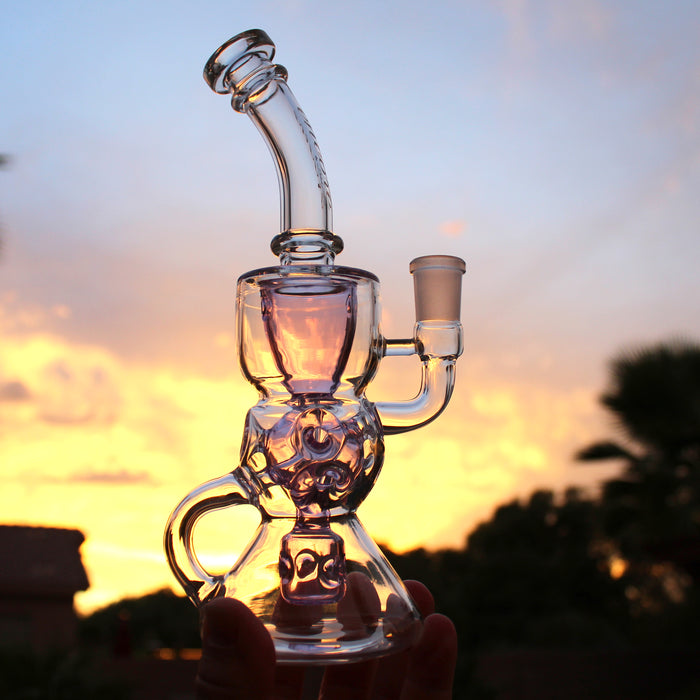 "Encore Glass 10"" Fab Incycler Dab Rig"