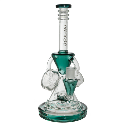 "Encore Glass 12"" Hour Glass Recycler Dab Rig"