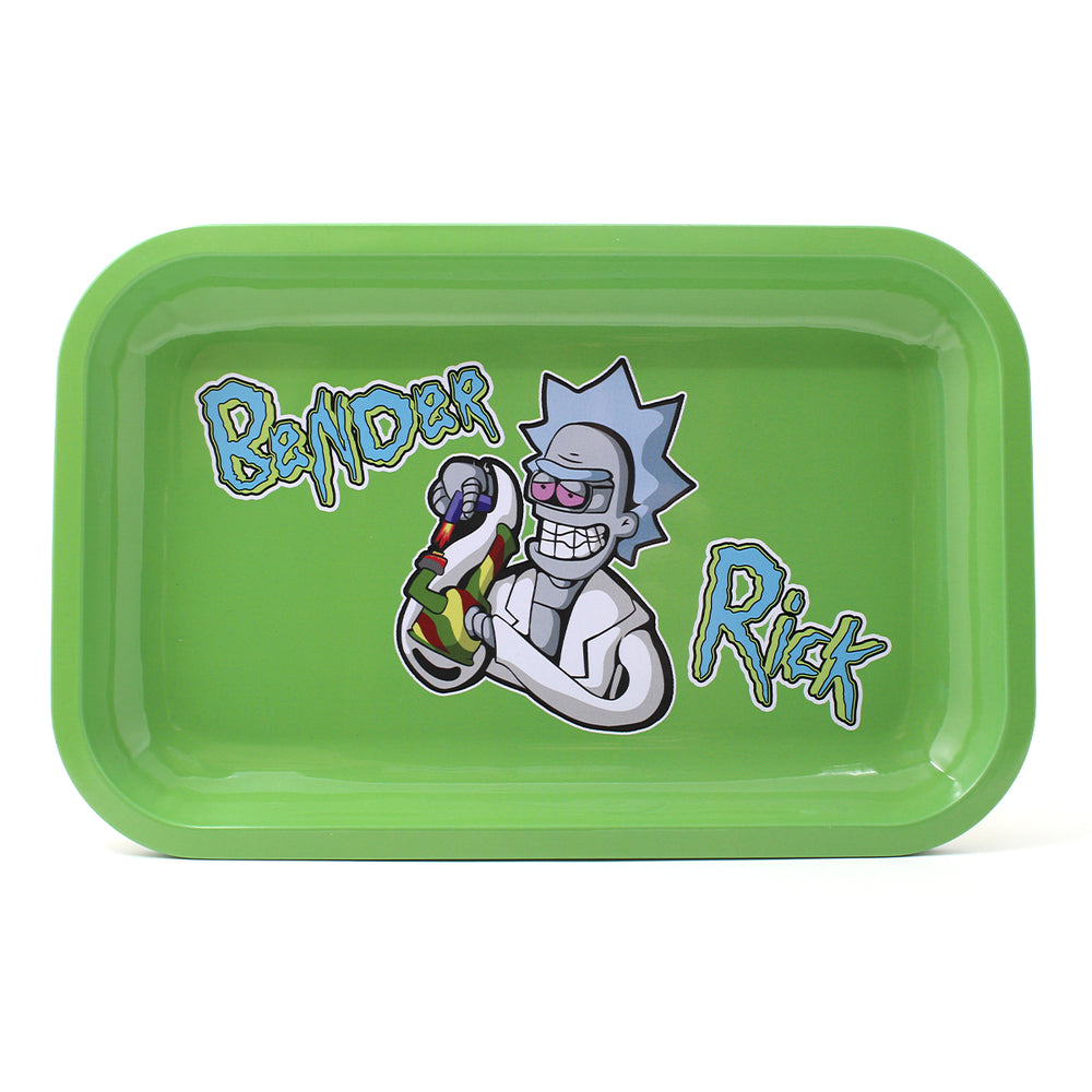 R&M Rolling Tray - Green Bender