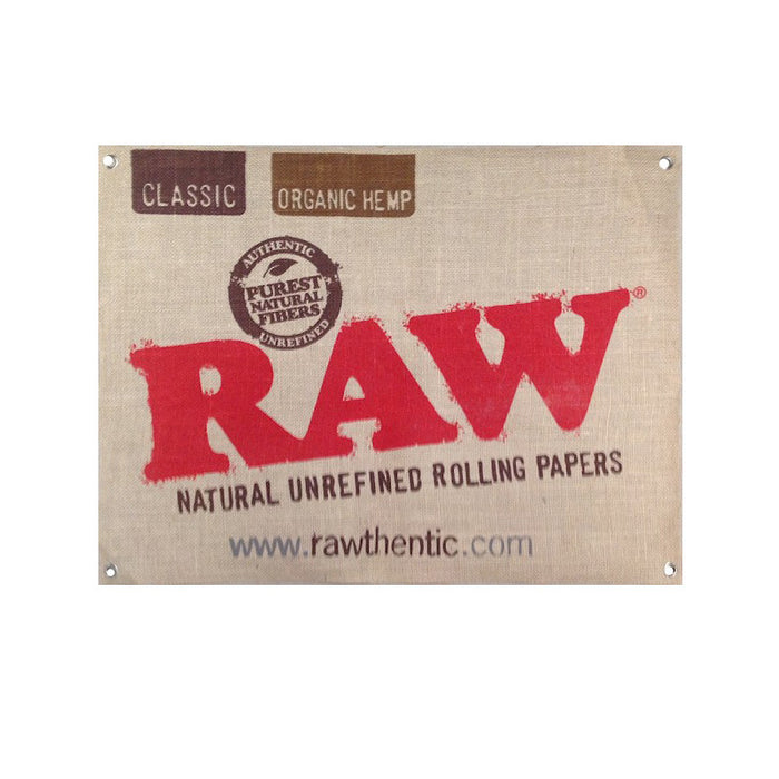 RAW Hemp Canvas Poster / Flag