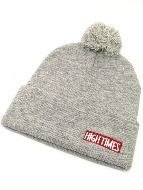 High Times Gray Pom Beanie