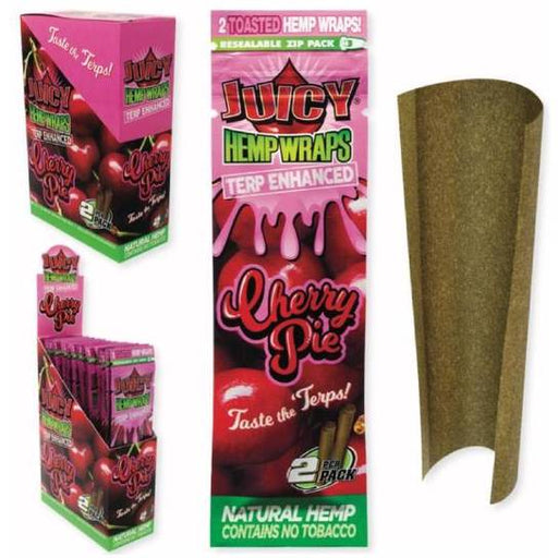Juicy Terp Enhanced Hemp Wraps - Cherry Pie