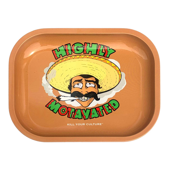 "Highly Motavated Rolling Tray  - 5.5""x7"""