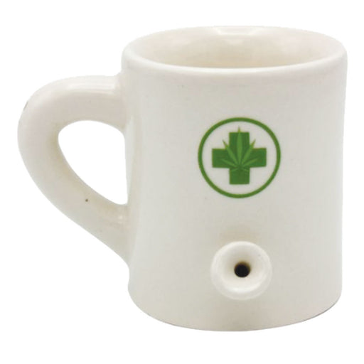 Ceramic Water Pipe Espresso Mug - 2oz - Medical