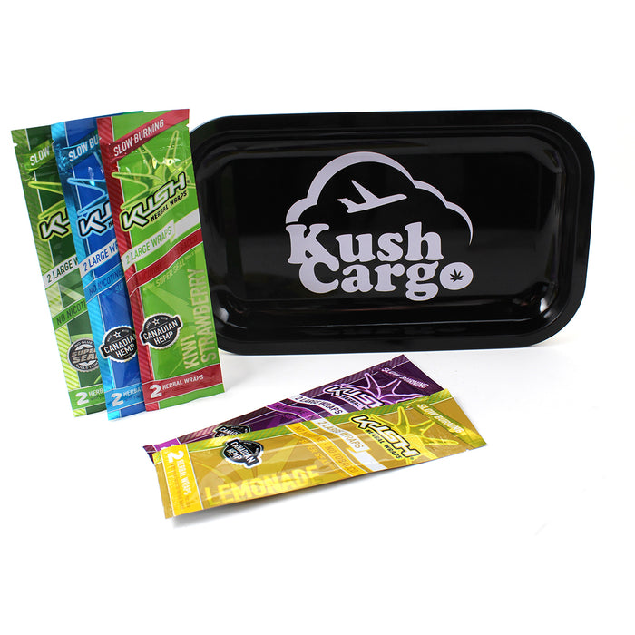 Kush Hemp Wraps Variety Pack with Rolling Tray