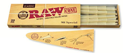 RAW Classic Pre Rolled Cones 98 Special - 20 Cones Per Pack