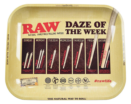 RAW Daze Of The Week Rolling Tray