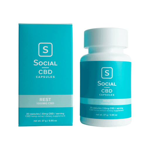 Social CBD 33mg Capsules Rest | Boost | Recover | Rest