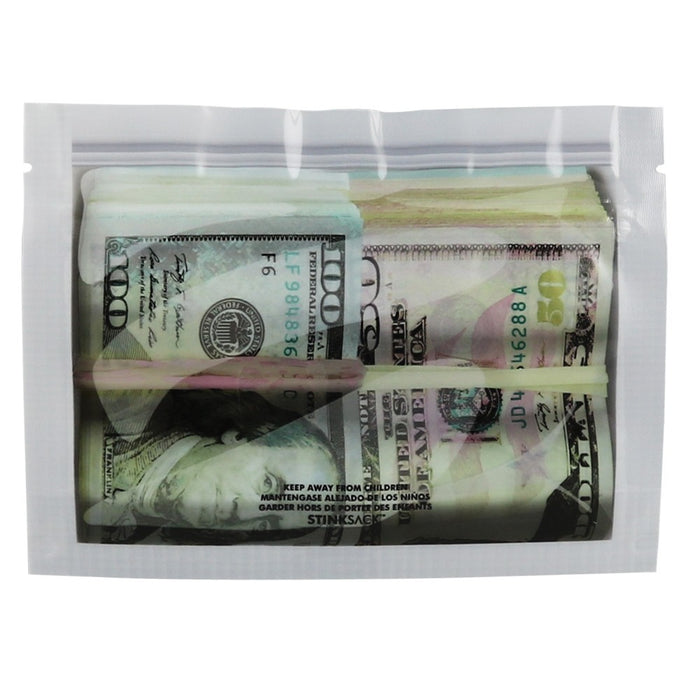 "Stink Sack 'Money Bags' Smell Proof Bags 6.1""x4.5"""