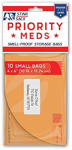 "Stink Sack 'Priority Meds' Smell Proof Bags 4""x6"""