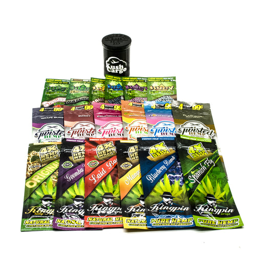 Hemp Wrap Sampler (6 Flavors Each of Kingpin, Juicy and Twisted) Hemp Wraps