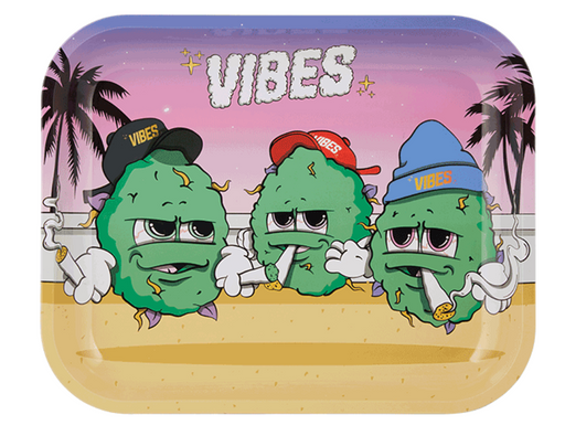 VIBES Buds For Life Rolling Tray - 3 Sizes