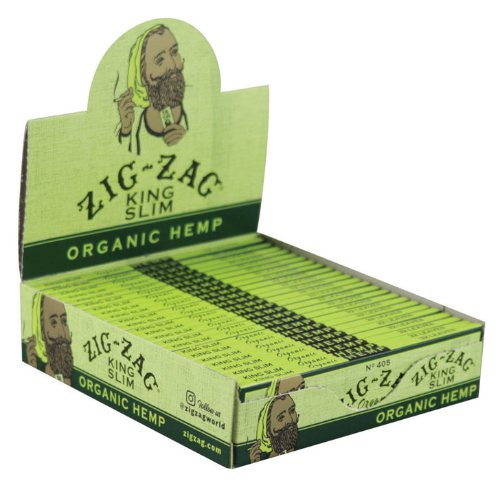Zig Zag King Slim Organic Hemp Rolling Papers