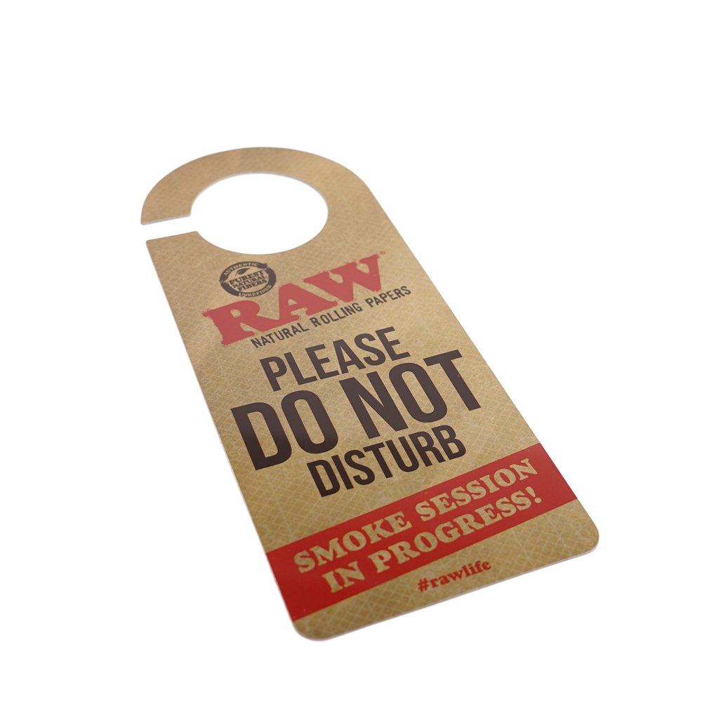 RAW Do Not Disturb Doorknob Sign