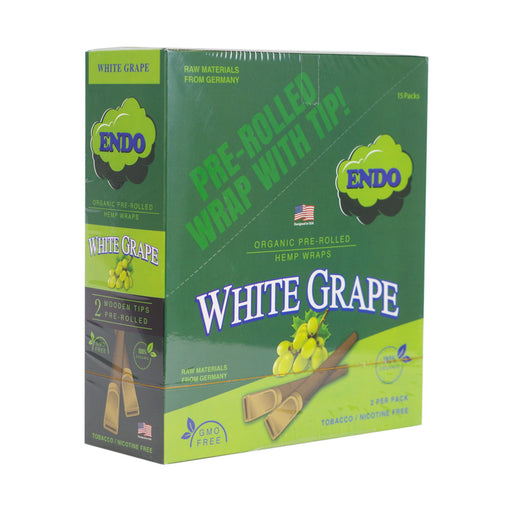 Endo Pre-Rolled Hemp Wraps -  White Grape