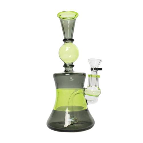 "8"" Fixed Drop Perc Colored Tube Waterpipe"